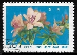 Stamps North Korea -  Rhododendron