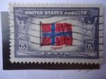 Sellos de America - Estados Unidos -  Bandera de Noruega