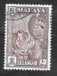 Sellos de Asia - Malasia -  Selangor - 84 - Sultan Salahuddin Abdul Aziz Shah