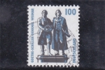 Stamps Germany -  GOETHE-SCHILLER-DENKMAL WEIMAR