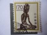 Sellos de Asia - Japón -  Estatua de Miroko Bosatsu (Buda Maitreya) _Templo Budista de Horyu-Ji