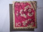 Stamps Japan -  Cherry Blossoms - Árbol de Flor de Cerezo