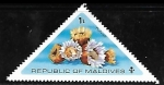 sellos de Asia - Maldivas -  Phyllangia