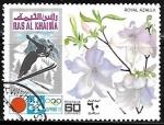 sellos de Asia - Emiratos Árabes Unidos -  Royal Azalea