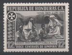 Stamps : America : Honduras :  PACIENTES  TRATADOS  EN  LOS  PUEBLOS.