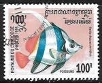 Sellos de Asia - Camboya -  Pennat Coralfish