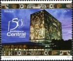 sellos de America - México -  50 aniversario de la Biblioteca Central de la UNAM