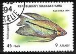 Sellos del Mundo : Africa : Madagascar : Siamese Fighting Fish