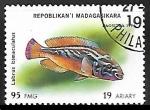 Sellos del Mundo : Africa : Madagascar : Cuckoo Wrasse