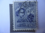 Stamps : Asia : Cyprus :  Independencia de Chipre (Kibris Comhuriyeti) - Reina Isabelh II y Racimo de Uva - Reino Unido