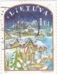 Sellos del Mundo : Europa : Lituania : PAISAJE NAVIDEÑO