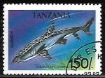 Sellos del Mundo : Africa : Tanzania : Whitetip Reef Shark