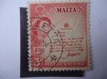 Sellos de Europa - Malta -  Scroll´s  del Rey - Queen Elizabeth II, 1956-1958.