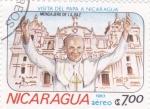 Sellos del Mundo : America : Nicaragua :  VISITA DEL PAPA A NICARAGUA