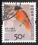 Sellos del Mundo : Asia : Hong_Kong : Scarlet Minivet
