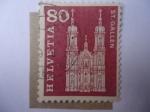Stamps Switzerland -  Catedral Barroca de San Gallen (Galo)