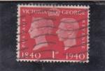 Stamps : Europe : United_Kingdom :  CENTENARIO VICTORIA Y GEORGE