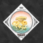 Stamps : Asia : Mongolia :  1394 - Champiñón, Cantharellus cibarius