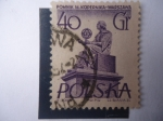 Sellos del Mundo : Europa : Polonia :  Cientifica:Maria salomea Sklodowska (1867-1934) (Marie Curie) - Monumento en Varsovia.