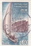 Stamps : Europe : France :  PANORÁMICA DE AIX LES BAINS