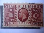 Stamps United Kingdom -  King Jorge V - Bodas de Plata 1910-1935