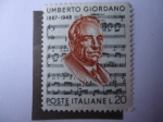Stamps : Europe : Italy :  Humberto Giordano (1867-1948) -Compositor de Operas.