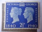 Stamps United Kingdom -  King George VI - Estampilla Centenaria, 1840-1940