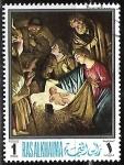 Sellos de Asia - Emiratos Árabes Unidos -  Navidad  pintura