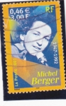 Stamps : Europe : France :  MICHEL BERGER- cantante