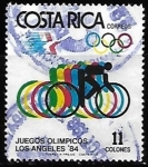 Stamps : America : Costa_Rica :  Cycling, Olympic Games 1984 Los Angeles
