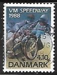 Sellos de Europa - Dinamarca -  Speedway Riders