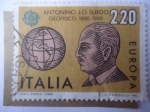 Stamps : Europe : Italy :  Europa - C.E.P.T. - Antonio lo Surdo (1880-19499)-Geofísico