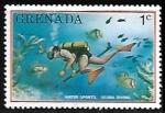 Sellos del Mundo : America : Granada : Scuba diving