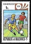 Sellos de Asia - Maldivas -  World Cup Football