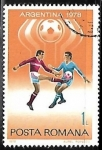 Stamps Romania -  Football World Cup 1978, Argentina