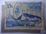de Europa - Bélgica -  Canal-Obras Hidráulicas - Liege 1939