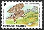 Sellos de Asia - Maldivas -  Otto Lilienthal's Glider, 1890
