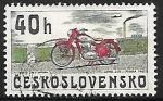Stamps Czechoslovakia -  JAWA 250, Praha 1945