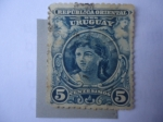 Stamps Uruguay -  República Oriental del Uruguay - Cabeza de Girs-Estatua-Símbolo.