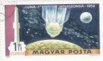 Stamps : Europe : Hungary :  AERONAUTICA- LUNA-1