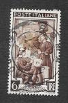 Stamps : Europe : Italy :  Fabricando Encajes