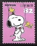 Stamps : Asia : Japan :  Snoopy