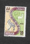 Stamps Africa - Sudan -  Mapa de Sudán