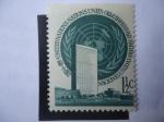 Stamps America - ONU -  Símbolo y Edificio de la ONU