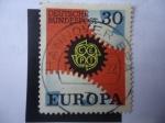 Stamps Europe - Germany -  Europa (C.E.P.T) 1967 - Ruedas Dentadas - Engranajes -