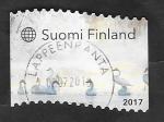 de Europa - Finlandia -  2464 - Cisnes sobre el hielo