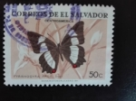 Sellos de America - El Salvador -  Mariposa