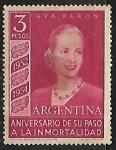 sello : America : Argentina : Eva Peron
