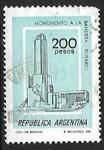 Stamps : America : Argentina :  Monumento a la Bandera (Rosario)