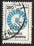 Stamps : America : Argentina :  Bandera Nacional